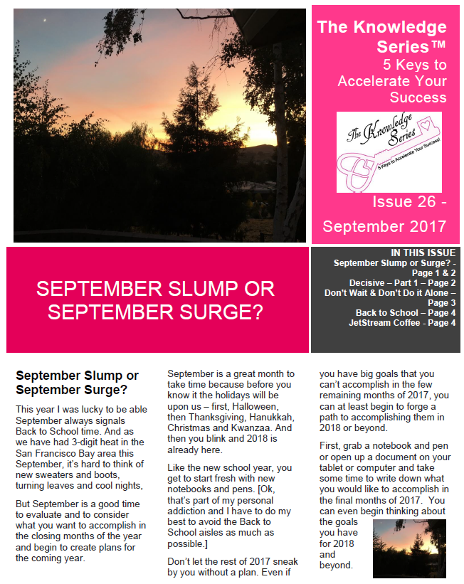 TKS September 2017 Newsletter